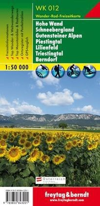 Hohe Wand – Schneebergland – Gutensteiner Alpen – Piestingtal – Lilienfeld – Triestingtal – Berndorf  turistatérkép - f&b WK 012
