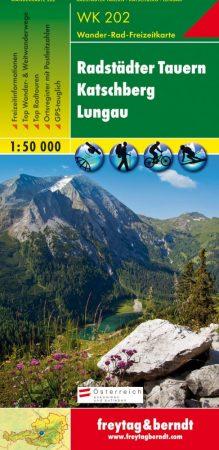 Radstädter Tauern-Katschberg-Lungau turistatérkép - f&b WK 202