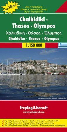 Chalkidiki - Thaszosz - Szaloniki autótérkép - f&b AK 0835
