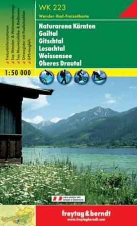 Karnische Alpen – Gailtal – Gitschtal – Nassfeld – Lesachtal – Weissensee – Oberdrautal turistatérkép - f&b WK 223