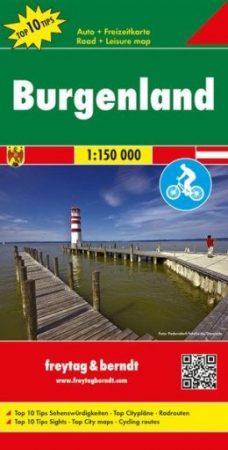 OE 33 - Burgenland Top 10 Tipp autótérkép - f&b