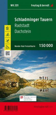 Schladminger Tauern-Radstadt-Dachstein turistatérkép - f&b WK 201