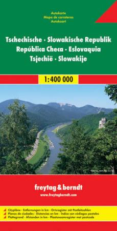 Csehország és Szlovákia autótérkép - f&b AK 1101
