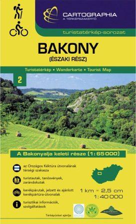 Bakony, északi rész turistatérkép - Cartographia