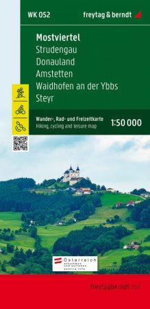 Mostviertel – Strudengau – Donauland – Amstetten – Waidhofen a.d. Ybbs – Steyr turistatérkép - f&b WK 052