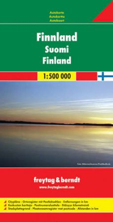 Finnország autótérkép - f&b AK 6401