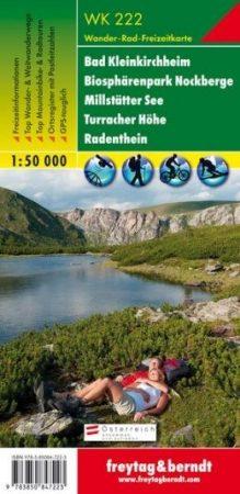 Bad Kleinkirchheim, Biosphärenpark Nockberge, Millstätter See, Turracher Höhe, Radenthein turistatérkép - f&b WK 222