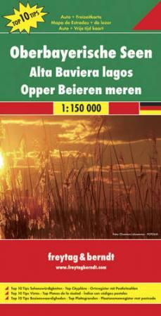 DEU 2 - Bajor tóvidék autótérkép - f&b