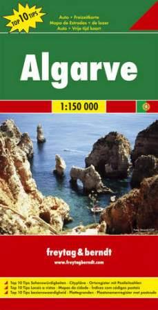 Algarve Top 10 tipp autótérkép - f&b AK 9801