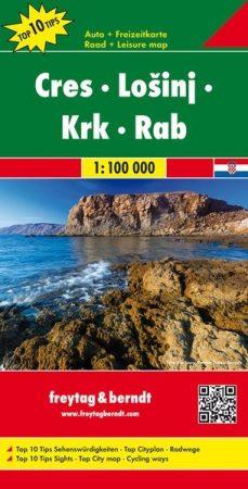 Cres-Losinj-Krk-Rab autótérkép - f&b AK 0702
