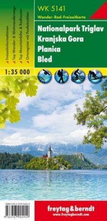 Nationalpark Triglav – Kranjska Gora – Planica – Bled turistatérkép - f&b WK 5141