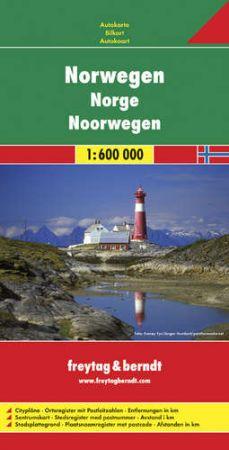 Norvégia autótérkép - f&b AK 0659