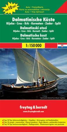 Dalmát tengerpart Top 10 tipp autótérkép - f&b AK 7404