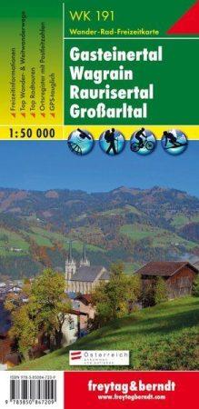 Gasteiner Tal-Wagrain-Grossarltal turistatérkép - f&b WK 191
