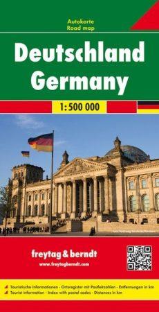 Németország autótérkép - f&b AK 0205