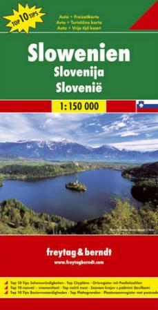 Szlovénia Top 10 tipp autótérkép - f&b AK 7201