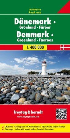 Dánia - Grönland - Faröer-szigetek autótérkép - f&b AK 6301