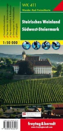 Steirisches Weinland-Südwest-Steiermark turistatérkép - f&b WK 411