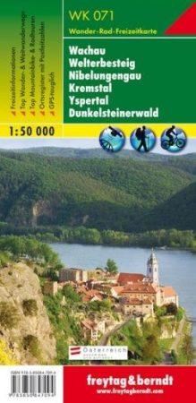 Wachau – Welterbesteig – Niebelungengau – Kremstal – Yspertal – Dunkelsteinerwald turistatérkép - f&b WK 071