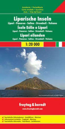 No11. - Lipari-szigetek autótérkép - f&b AK 0613