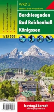 Berchtesgaden – Bad Reichenhall – Königssee turistatérkép - f&b WKD 5