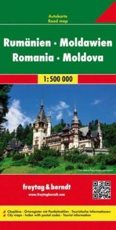 Románia és Moldova autótérkép - f&b AK 0905