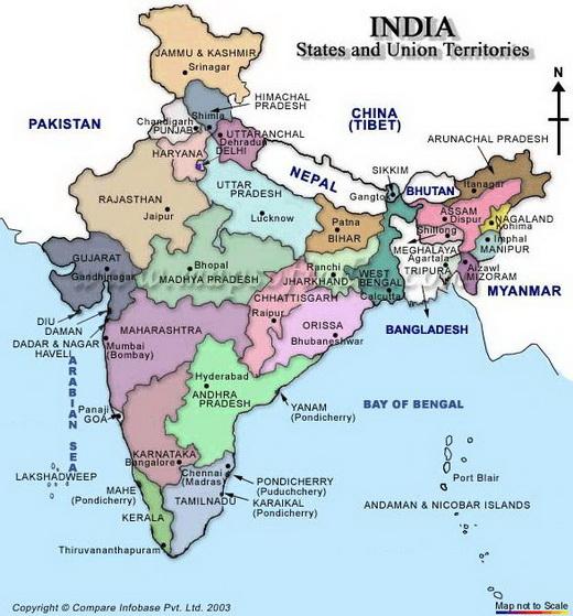 india térkép 3. indiai államok   India   Ázsiai térkép   TÉRKÉP   Útikönyv  india térkép
