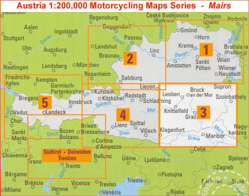 ausztria irányítószámos térkép Motorostérkép   Ausztria   Európai térkép   TÉRKÉP   Útikönyv  ausztria irányítószámos térkép