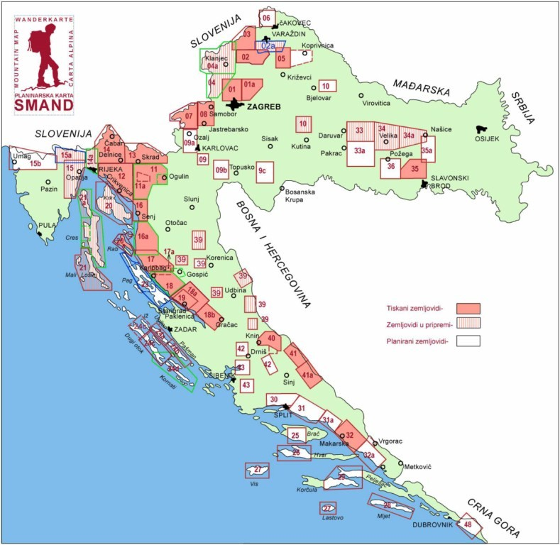 horvátország térkép részletes Smand   Turistatérképek   Horvátország   Európai térkép   TÉRKÉP  horvátország térkép részletes