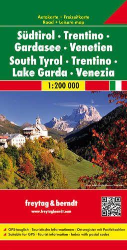 Dél-Tirol / Trentino / Garda-tó / Veneto autótérkép - f@b AK 0614