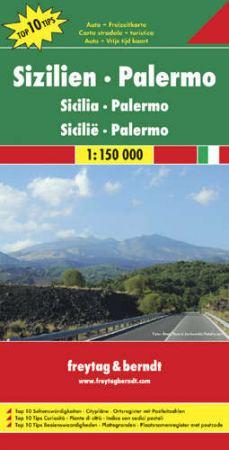 No 7. - Szicília - Palermo Top 10 Tipp autótérkép - f&b AK 0618