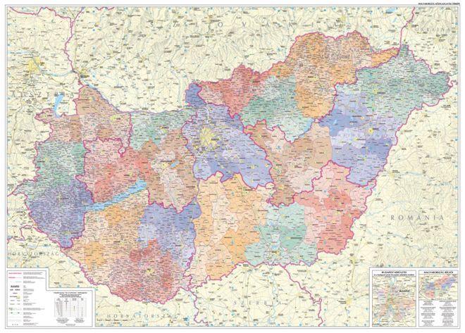 Magyarország közigazgatása járásokkal falitérkép - Szarvas