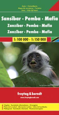 Zanzibar - Pemba - Mafia autótérkép - f&b AK 174