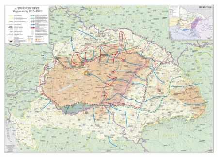 A trianoni békekötés következményei DUO falitérkép - Stiefel