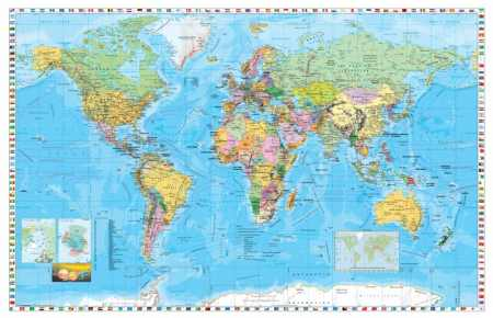 A Föld országai térkép/Közép-Európa autótérkép könyöklő - Stiefel