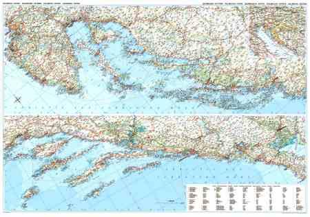 Dalmácia és Isztria autótékép falitérkép - GiziMap