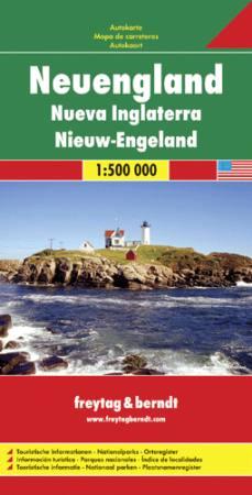 New England autótérkép - f&b AK 171