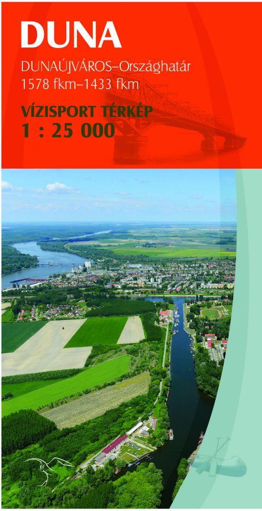 Duna vízisport IV.: Dunaújváros - országhatár térkép - Paulus Kiadó