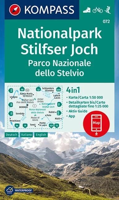 WK 072 - Nationalpark Stilfser Joch - Parco Nationale dello Stelvio turistatérkép - KOMPASS
