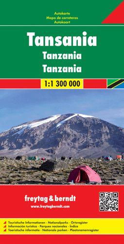 Tanzánia autótérkép - f&b AK 2102