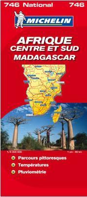 Közép- és Dél-Afrika / Madagaszkár térkép - Michelin 746