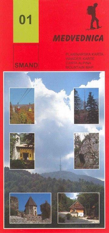 Image of 01 - Medvednica turistatérkép - Smand