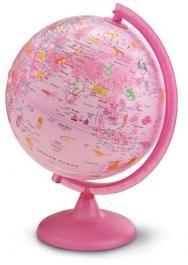 ZOO (pink) földgömb - állatvilág tematikával, gyerekeknek