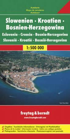 Szlovénia - Horvátország - Bosznia-Hercegovina autótérkép - f&b AK 7002