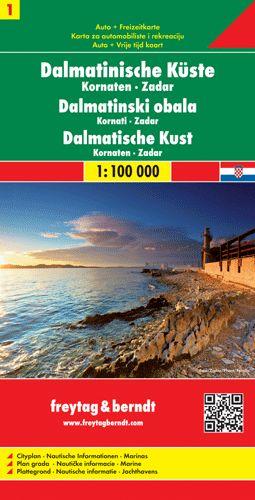 Dalmát tengerpart 1. Kornati-szigetek - Zadar autótérkép - f&b AK 0703