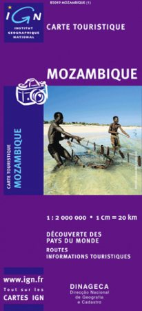 Mozambik térkép - IGN