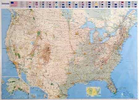 USA politikai falitérképe - Michelin
