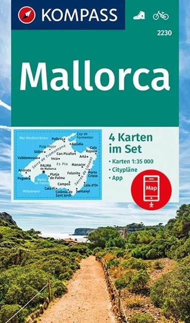 WK 2230 - Mallorca 4 részes turistatérkép - KOMPASS
