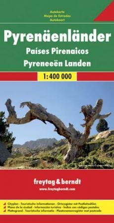 Pireneusok országai térkép - f&b AK 0520