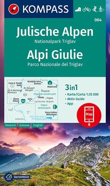 WK 064 - Juliai Alpok-Nationalpark Triglav turistatérkép - KOMPASS